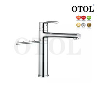 Low Price Faucets!!! Kitchen Faucet OTOL METIS series newest Modern Fashion 212007 solid brass swivel kitchen sink faucets
