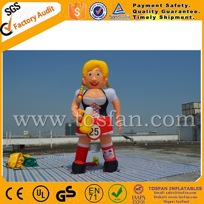 Factory direct sale inflatable Sarah Holland cartoon for advertising F8021
