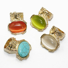 2017 New Women Arty Cocktail Ring Mood Ring Bijoux Multi-color Dropshipping Free Nice Gift