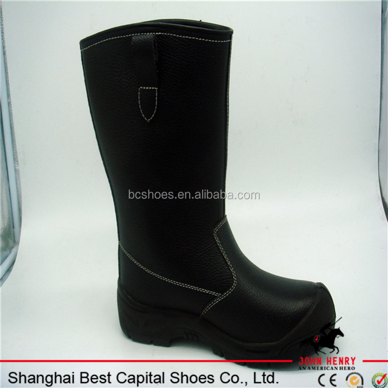 pu pu outsole winter boots/best selling reflective stripe,low cut leather safety shoes,steel toe cap safty boots BC-SF014