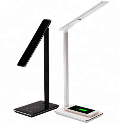 Modern office wireless charger LED table <strong>lamp</strong> for bedroom lighting for reading with touch light <strong>lamp</strong>