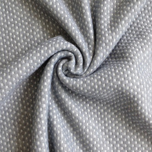 double knit air layer fabric 100% Polyester hexagon jacquard home textile knitted fabric for mattress