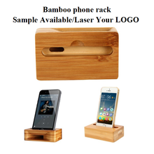 Suppliers Bamboo Wooden Wood Cell Phone Stand Mobile Phone Holder