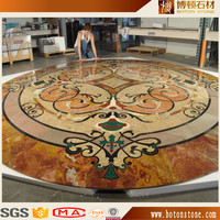 Decorative Building Material Natural Stone Medallion Marble Waterjet Mosaic Pattern For Hotel Mall Flooring Tile Wall