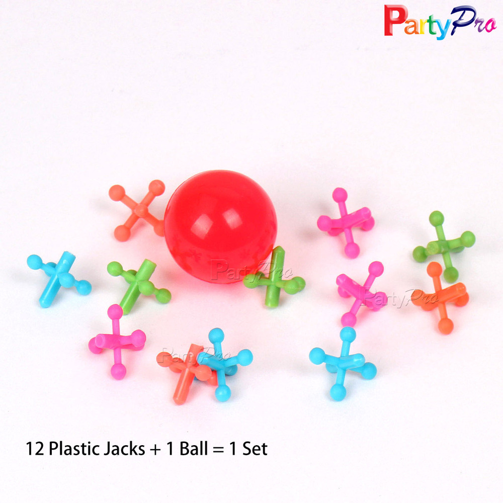27mm Crazy Solid Rubber Bouncy Ball Your Favorite Toy Jack & Ball