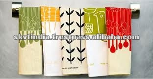 100% INDIAN ORGANIC COTTON TEA TOWEL(SKVT)