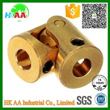 Custom precision mini universal joint, brass small universal joint for RC toy spare parts