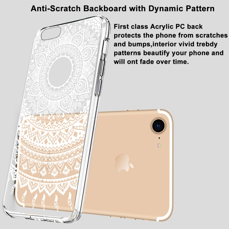 Crystal Silicone Celular Coque TPU Case For iPhone 7 7Plus 7 Plus Case with Glass Screen Protector Phone Accessories