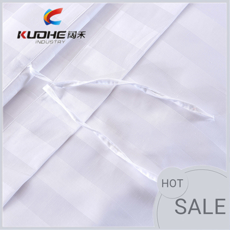 Cotton and polycotton white bed sheet, Satin Stripe/Jacquard/Plain white flat sheet/fitted sheet/ hotel bedding Fabric