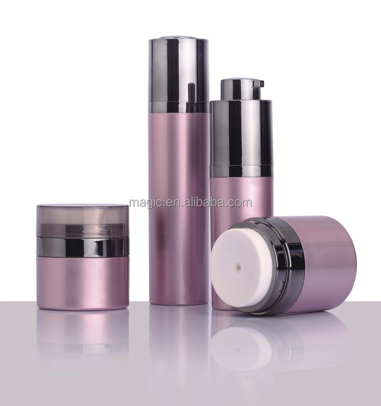 hot selling cosmetic airless bottles and jars ,high quality cosmetic packaging