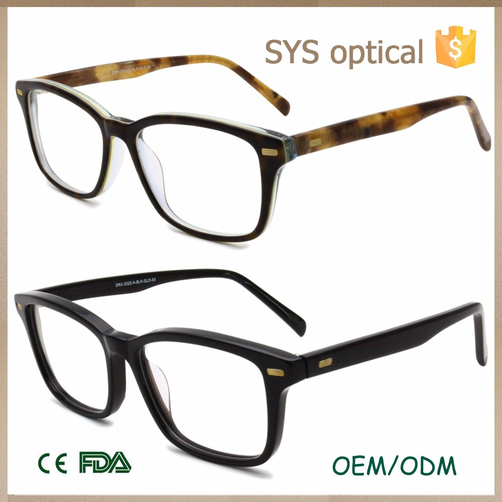Latest full rim modern oversize eyeglasses, popular for European Italy brand eyewear frame
