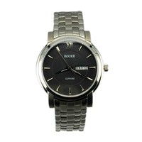 High Quality Stainless Steel Japan Day/Date Quartz Movement 3ATM Waterproof Wrist Watch For Men