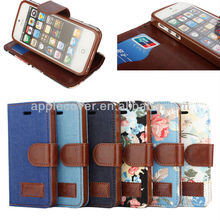 Flower Wallet Case for i Phone5 mobile phone