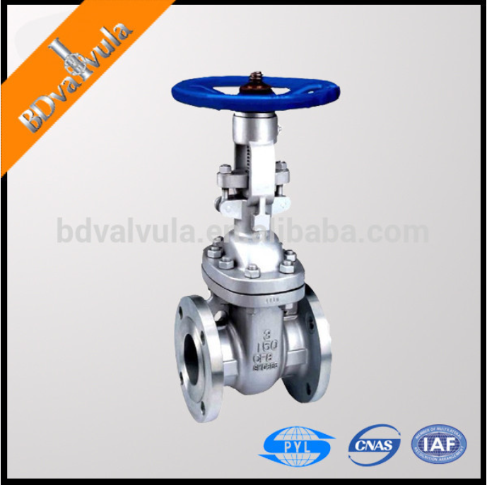 API 6D ss304 water gate valve manual PN16 gate valve