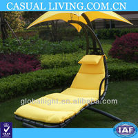Sun Deck Chair, Outdoor Sun Lounger, Leisure Chair With Sun Shade