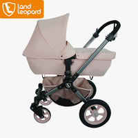 Fashional Landleopard factory to made the first level baby pram with interchangeable frames, soft fabric textiles
