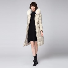 New Design Removable Fox Fur Collar Women Down coat For ladies
