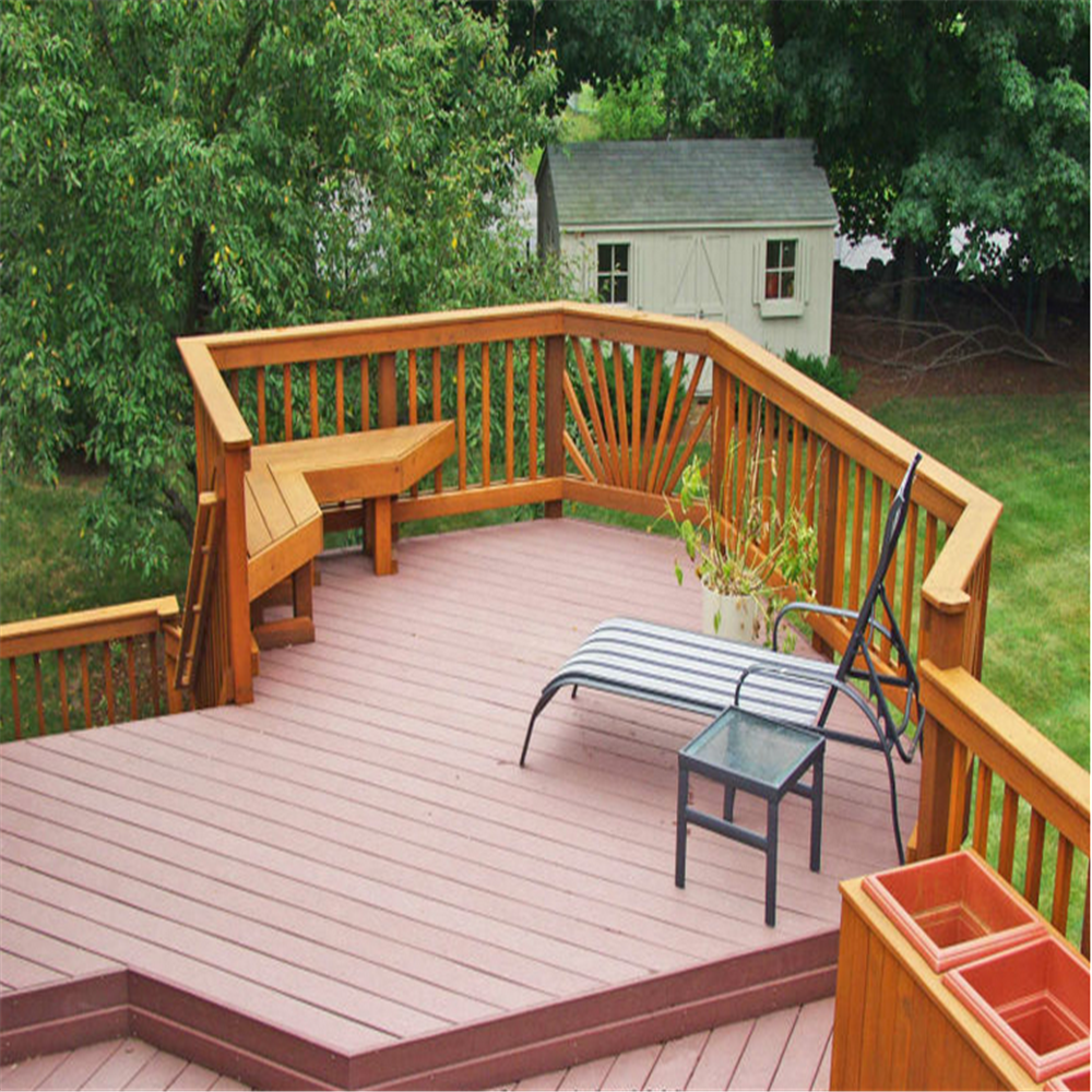 Easy Installation Plastic Wood Deck Outdoor Flooring
