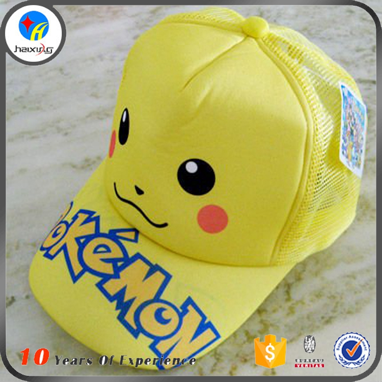 Custom Foam Mesh Rope Front Pokemon Cap