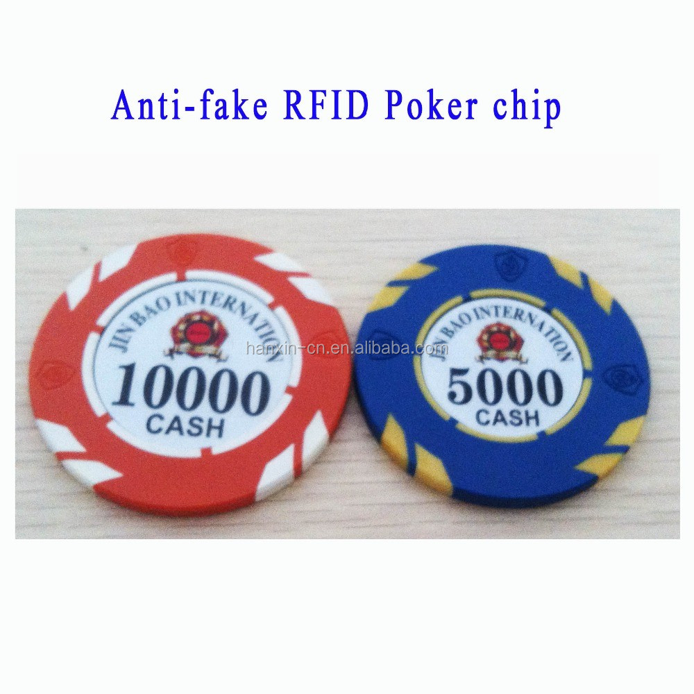 UV Anti-fake casino Logo RFID monte carlo poker chips