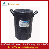 Mini bin shape promotion tyre cooler --logo printing available