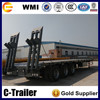 3 axle 13m length low bed trailer, lowboy semitrailer for sale