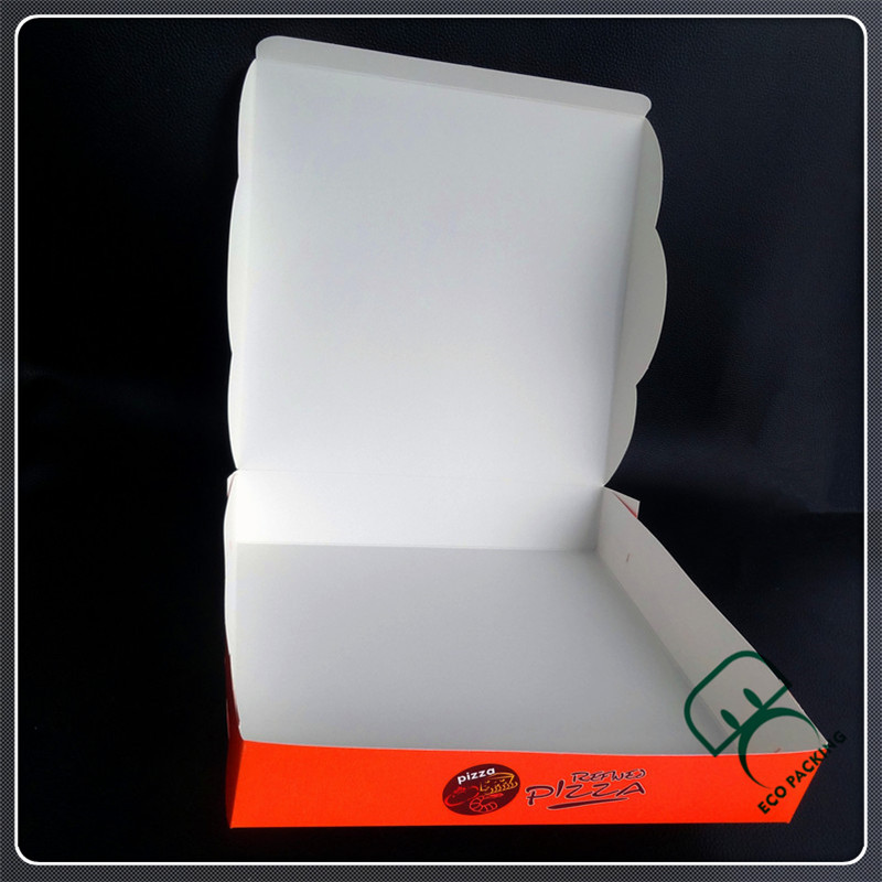 Custom Foldable cheap Coated paper pizza box