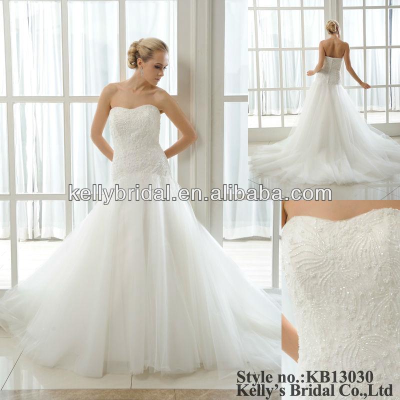 White Or Ivory Beads Embellishment Wedding Dress Beading Patterns