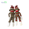 Most popular wholesale custom cheap long arms and legs plush stuffed animals knitted wool sock soft monkey pattern gift toy
