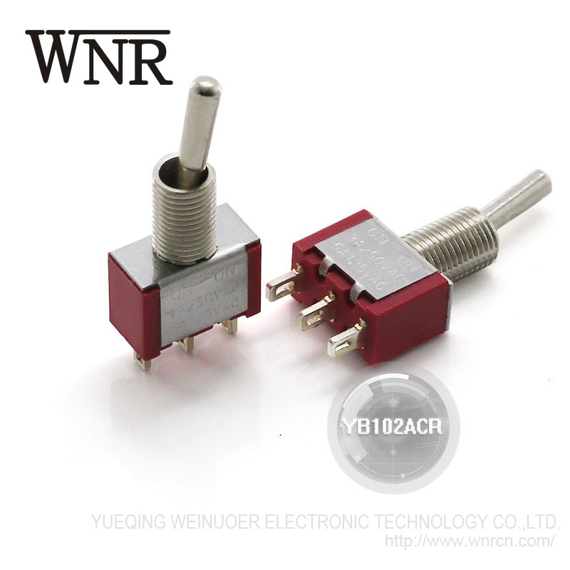 High quality WRNE sub miniature rocker toggle switch YB-102-1ACR mini aircraft Toggle Switch spst