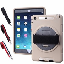 Popular Style 360 Degree Rotating hand strap cover for ipad mini 4,case for ipad mini 4,for ipad mini 4 case with strap