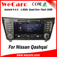 Wecaro in dash touch screen android 4.4.4 car gps navigation dvd player for nissan qashqai double din car radio