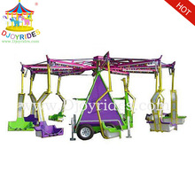 outdoor games trailer mounted flying chair amusement rides