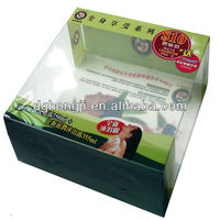 clear plastic handles corrugated boxes