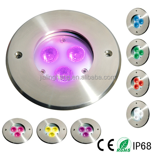 3W/9W Stainless Steel LED Underwater Swimming Pool Light