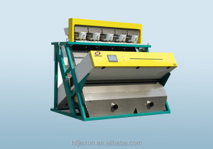 Intelligent peeled mung bean color sorting machine
