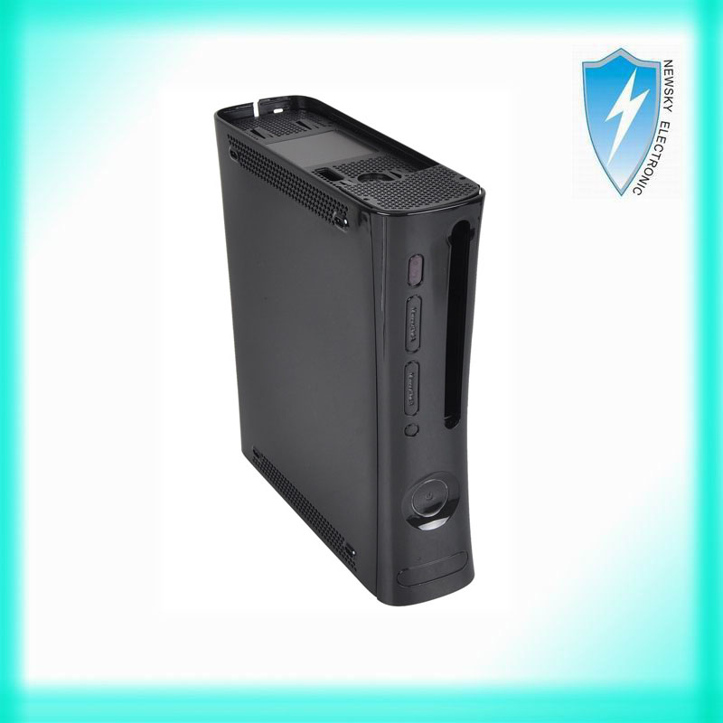 Full Body Housing Shell Case Replacement Black for Xbox 360 Console