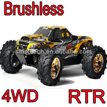 rc car toy 1/10 scale 4wd off road brushless rc monster truck make remote control toy car