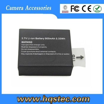 3.7V Li-ion sj4000 Battery for China SJ4000 Sport Camera, 900mAh 3.33Wh