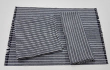 high quality linen/cotton color weaved frayed hem tea towels in stripes in small quantities