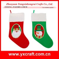 Christmas decoration (ZY16Y005-1-2 50CM) christmas mirror santa and snowman gift christmas american stocking style