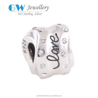 European Style S925 Sterling Silver Stamped Letter Charms YZ436