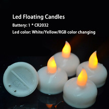 Wholesale Color Changing Plastic Floating Led Candles Light, Led Flameless Tealight Candle