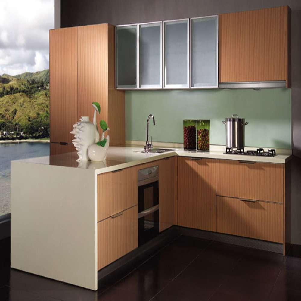 China made modern small melamine kitchen cabinet buy for Made to order kitchen cabinets
