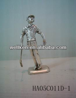 pewter sports figures,metal statue