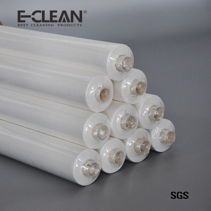 55%woodpulp and 45%polyester smt stencil cleaning wiper paper roll