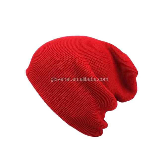 2018 Wholesale cusrtom Women Men winter camo Slouch Beanie Hat Cap Knit Skull Cap
