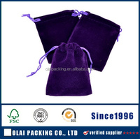 Manufacturer of black velvet jewellery pouches with pp rope, velvet jewellery bag