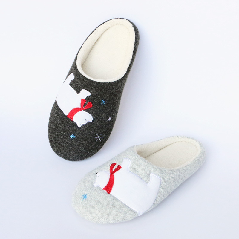 Polar Bear cotton <strong>slippers</strong> home <strong>slippers</strong> women cotton tow mute floor autumn and winter new design warm <strong>slippers</strong> women