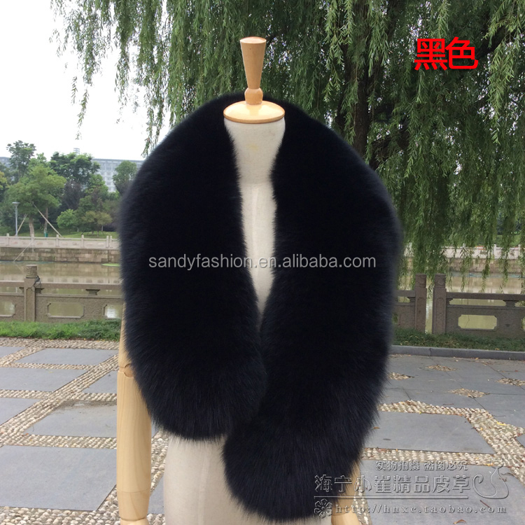 BIG fox fur collar,different size and color can select